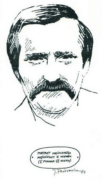 Portret nieznanego mężczyzny z wąsem (II połowa XX wieku)